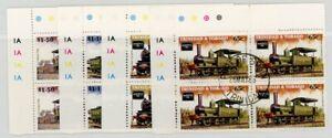 Trinidad & Tobago - Trains 1986 - Plate Blocks Used SG705-8