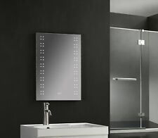 RORY 700 x 500mm Illuminated Bathroom LED Mirror Bluetooth,Demist & Shaver 3001b
