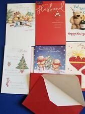 6 Brand New with Envelopes Hallmark Greeting Cards Christmas Husband Partner No6