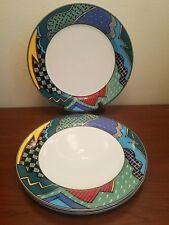 3pc Christopher Stuarts Rave Dinner Plates Light To Medium Used