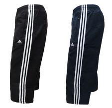 adidas Mens 3 Stripe Open Hem Basic Track Pant Bottoms Tracksuit Pants Training Navy/white L