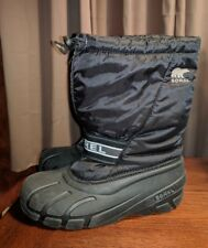 SOREL MENS WATERPROOF SNOWMOBILE BOOTS WINTER BLACK 7 M UK 6.5 40 LINERS