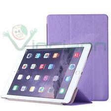 2x Pellicola+Custodia smart cover VIOLA per Apple iPad Air 2 2014 case stand