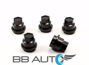 NEW SET OF 5 BLACK LUG NUT COVERS CAPS CHEVROLET S10 BLAZER GMC JIMMY SONOMA