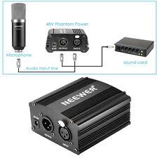 Neewer Nw-700 Micrófono 48V Alimentación Phantom adaptador cable audio XLR