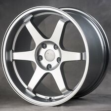 18x9.5/10.5 Miro 398 5x114.3mm +20 Silver Wheels Rims Fits G37 Coupe Nissan 350Z