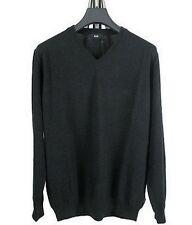 HUGO BOSS BLACK Pull Col V ''Badu'' Coton-Laine Noir-Black T.XL Neuf-New