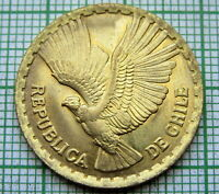CHILE 1966 So 5 CENTESIMOS, FLYING ANDEAN CONDOR UNC LUSTRE