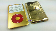new golden housing faceplate case cover red clickwheel fr ipod 6th classic 120gb