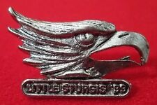 Little Sturgis 1999 Biker Rally Eagle Collector Pin, Ant Silver Plate, USA NEW