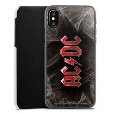 Apple iPhone X Handyhülle Case Hülle - ACDC White Dust