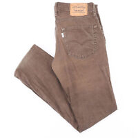 Vintage LEVI'S 511 Brown Corduroy Slim Straight Trousers Mens W31 L32