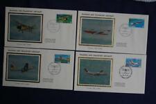 Training & Transport Aircraft 30c & 60c Stamps 4 Fdcs Colorano S#Ca903-906 Ca066