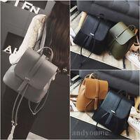 Fashion Women Girls Backpack Travel Shoulder Bag Ladies PU Leather Rucksack Bags