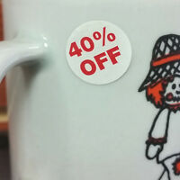 """1000 Self-Adhesive 40% Off Round Retail Labels 3/4"""" Stickers Tags - Dot Stickers"""