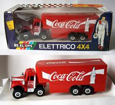 "RARE VINTAGE 1983 COCA COLA 10"" HAULER BIG RIG 4X4 TRUCK RE.EL TOYS ITALY NEW !"