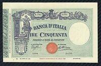 Banconota 50 LIRE BARBETTI  L TESTINA con Matrice 16/10/1935  Periziata qFDS
