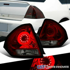 For Chevy 06-13 Impala Red/Smoke Halo LED DRL Parking  Rear Tail Brake Lamps