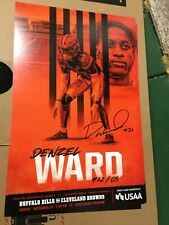 DENZEL WARD #21 POSTER 2019 Cleveland Browns vs Buffalo Gameday Poster 11/10/19