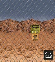 Biohazard Keep Out Windbreak Compact Perfect for Camping (4 STEEL POLES)