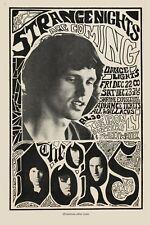 Jim Morrison & The Doors at Shrine Los Angeles Concert Poster 1968 13x19