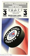 1994 WORLD CHAMPION NEW YORK RANGERS STANLEY CUP SEMIFINALS PLAYOFF TICKET STUB