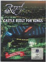 1999-2000 NHL BRUINS @ LOS ANGELES KINGS HOCKEY PROGRAM - FIRST GAME AT STAPLES