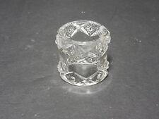 "Jefferson Krys-Tol Diamond & Peg Napkin Ring Clear Crystal 1 7/8"" D ca 1907-20s"