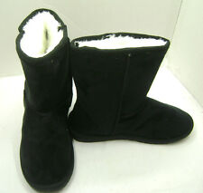 Women's Sheepdawg  microfiber black winter boot with faux fur lining size 6 NIB