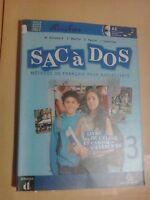 LIBRO SACà DOS METHODE DE FRANCAIS POUR ADOLESCENTS 3 DIFUSION 9788869642593 cd
