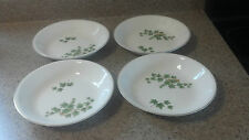 4 Vintage Paden City Pottery City Ivy 8 inch soup or pasta bowl with yellow trim