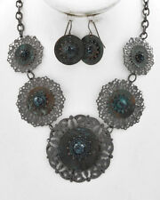STEAMPUNK GOTHIC GYPSY TRIBAL Renaissance Medieval Necklace Earring Jewelry Set
