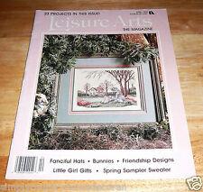 LEISURE ARTS MAGAZINE~April 1990~Cross Stitch~Knit~Crochet~Crafting~Vintage