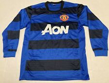 New listing Manchester United Soccer Jersey Men Small Black and Blue AON