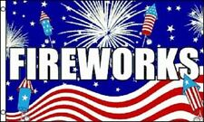3x5 Advertising Fireworks USA Flag 3'x5' Banner Brass Grommets fade resistant
