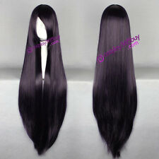 Inu x Boku SS Shirakiin Ririchiyo cosplay wig long dark purple wig women's wig