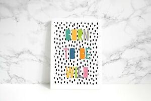 born to be wild jungle print Quote print-nursery kids room prints
