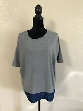 LuLaRoe Gray And Blue Two Toned Layered Irma Size XXS