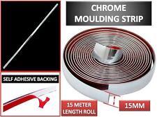 15M Zierleiste mit Chrom einlass PVC Leiste selbstklebend Kantenschutz 15 Meter