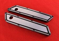 Anodized Billet CNC Aluminum  Saddlebags Latch Cover Face 4 Harley Touring 14 15