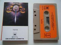 TOTO S/T SELF TITLED 1ST ALBUM CASSETTE TAPE 1978 ORANGE PAPER LABEL CBS ITALY