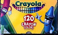 CRAYOLA CRAYONS 120 count with Tip Crayon Sharpener NEW