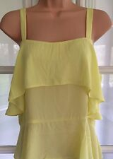 NEW - ASOS, 12, yellow frill tiered cami vest top tunic