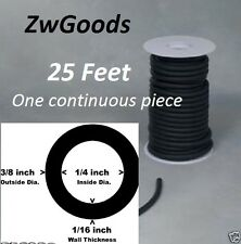 """25 CONTINUOUS FEET 1/4 I.D x 1/16 wall x 3/8"""" O.D LATEX TUBING SURGICAL RUBBER"""