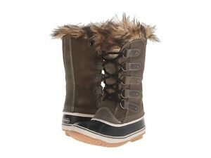 SOREL Joan of Arctic II NORI Green SUEDE Faux Fur WINTER BOOTS US 8 8.5 9 9.5 10