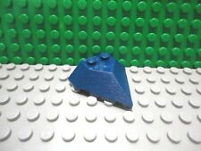 Lego 1 Dark Blue 4x4 pointed wedge plane train New