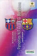 Programme PANIONIOS GREECE - BARCELONA SPAIN 2003-2004 UEFA CUP
