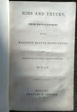 W.A.G.  RIBS And TRUCKS from Davy's Locker.. 1842 1st Edition  (Herman Melville)