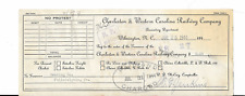 Charleston & Western Carolina Railway  Company check 1944