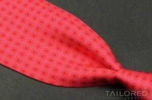 "HERMES 5357 OA Pink Geometric Polka Dot 100% Silk Mens Luxury Tie RARE - 3.625"""